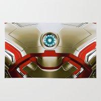 iron man Area & Throw Rugs featuring IRON MAN Iron Man by Veylow