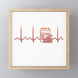 Financial Planner Heartbeat Framed Mini Art Print