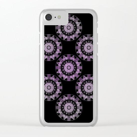Ethnic mandalas in purple Clear iPhone Case