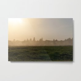 dust at sunset Metal Print