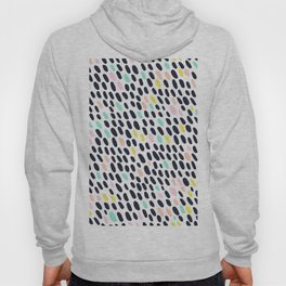 ABSTRACT PASTEL CONTRAST POLKA DOT BRUSH STROKE PATTERN Hoody