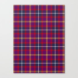 Purple Red Yellow Tartan Pattern Canvas Print