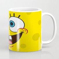 spongebob Mugs featuring SpongeBob Face by julien tremeau
