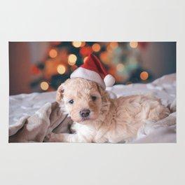 Santa Dog (Color) Rug