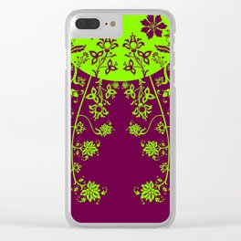 floral ornaments pattern vop60 Clear iPhone Case