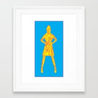 american beauty Framed Art Prints featuring American Beauty by THE NEON UNDRGRND //: