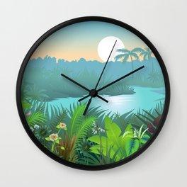 Jungle Dream Landscape Wall Clock
