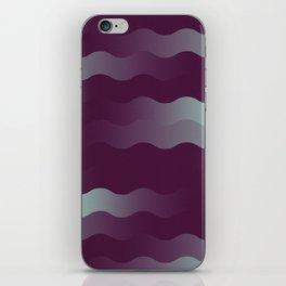 Mint Plum Gradient Wave iPhone Skin