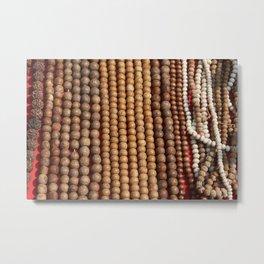 Mala Beads Metal Print