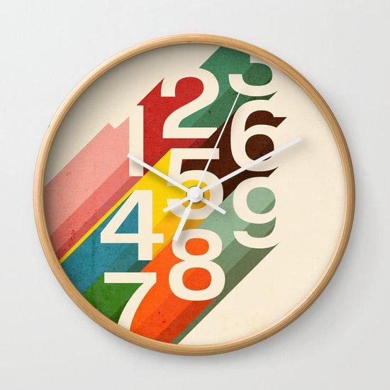 Retro Numbers Wall Clock