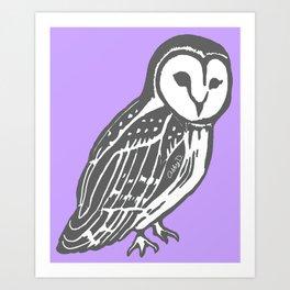 Grey Barn Owl Art Art Print