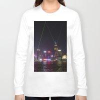 hong kong Long Sleeve T-shirts featuring Hong Kong Laser Show by Lynn Bolt