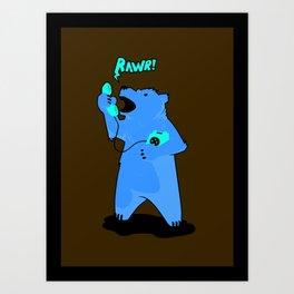 On the Phone Art Print