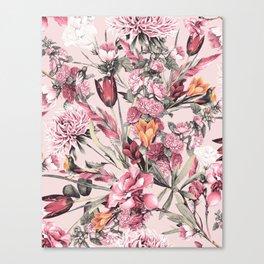 RPE FLORAL XI PINK Canvas Print