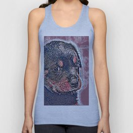 GlitzyAnimal_Dog_004_by_JAMColors Unisex Tank Top