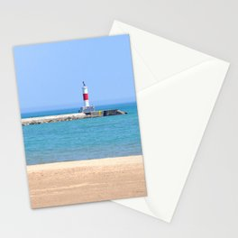 LIGHTHOUSE ON LAKE MICHIGAN Stationery Cards