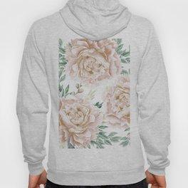 Pretty Blush Pink Roses Flower Garden Hoody
