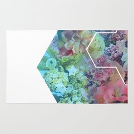 Floral Hexagon Rug