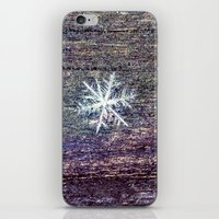 snowflake iPhone & iPod Skins featuring snowflake by Bonnie Jakobsen-Martin