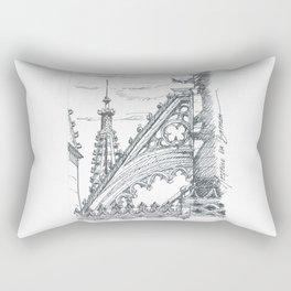 gothic flying butress Rectangular Pillow