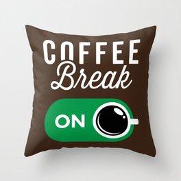 Coffee Break On Throw Pillow