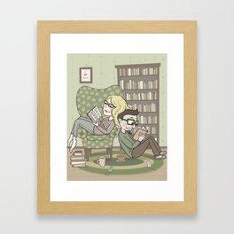 book lovers Framed Art Print