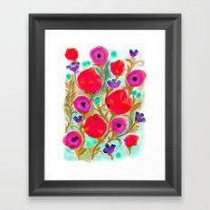Fiona Flower Framed Art Print