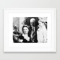 pennywise Framed Art Prints featuring PENNYWISE IN A WONDERFUL LIFE by Luigi Tarini