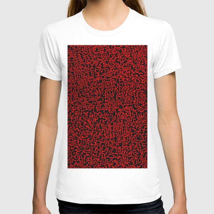 thought 2, red on black T-shirt