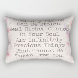 Real Riches Cannot Be Stolen Oscar Wilde Quote Rectangular Pillow