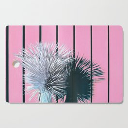Yucca Plant in Front of Striped Pink Wall Cutting Board
