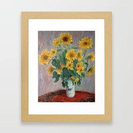 Claude Monet Bouquet Of Sunflowers 1881 Framed Art Print