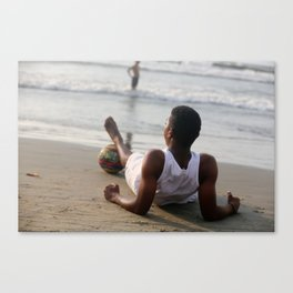 On the Beach in Cartegena Canvas Print