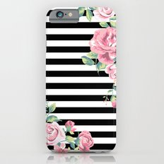 Floral Stripes Slim Case iPhone 6s