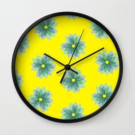 Geo Spring Flowers 02 Wall Clock