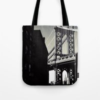brooklyn Tote Bags featuring brooklyn by trebam