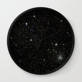 Universe Space Stars Planets Galaxy Black and White Wall Clock