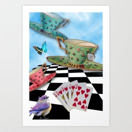 Flying Mugs Art Print