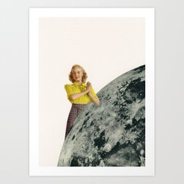 He Gave Her The Moon Art Print