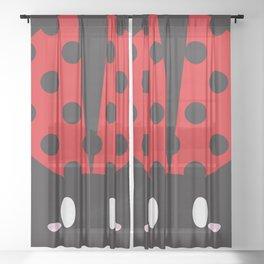 Ladybug block Sheer Curtain