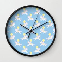Rainbow Unicorn Candy Wall Clock