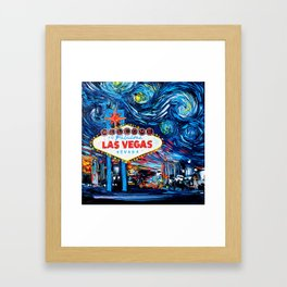 van Gogh Never Saw Vegas Framed Art Print