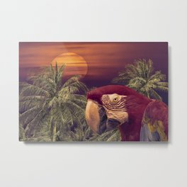 Tropical Style Collage Design Poster Metal Print