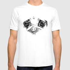 Mao a pug that love food SMALL Mens Fitted Tee White