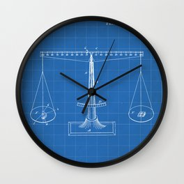 Lawyer Patent - Paralegal Art - Blueprint Wall Clock