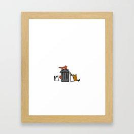 Trash can. Framed Art Print