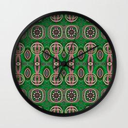 Vintage wood and metal flowers Wall Clock
