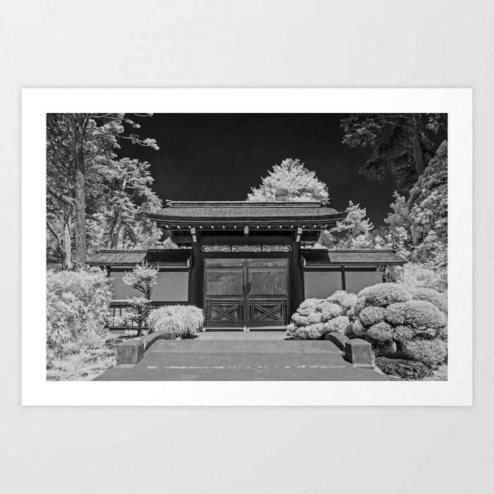 Japanese Tea Garden Gate, Golden Gate Park, San Francisco, California Kunstdrucke