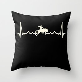 Rodeo Cowboy & Horse Heartbeat Gift Throw Pillow