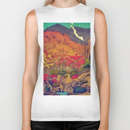 Autumn Baths in Kaanaii Biker Tank